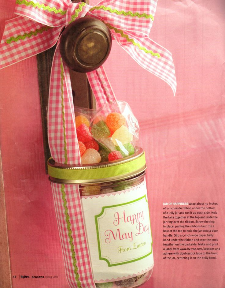 May Day Sweets ~ Print label at http://www.hy-vee.com/seasons/articles/sweet-gifts.aspx