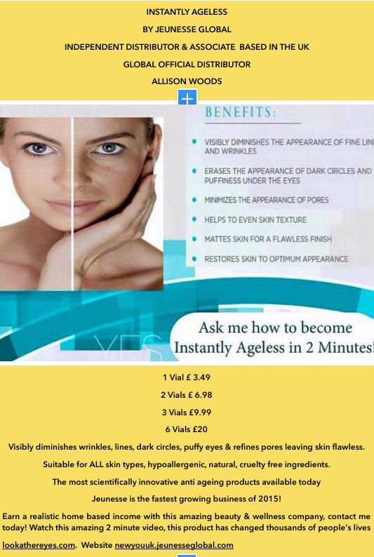 Instantly ageless  Buy yours today