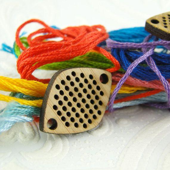 Cross stitch pendant blank diamond connector pendant in