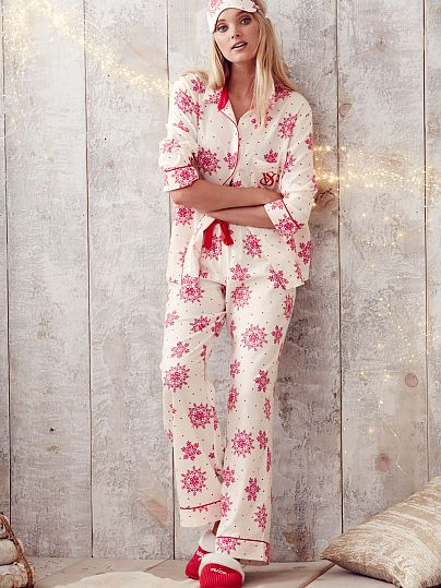 The Dreamer Flannel Pajama (Winter Snowflake, Pink Presents, 'Tis the Season, Dancing Polar Bears) | Victoria's Secret