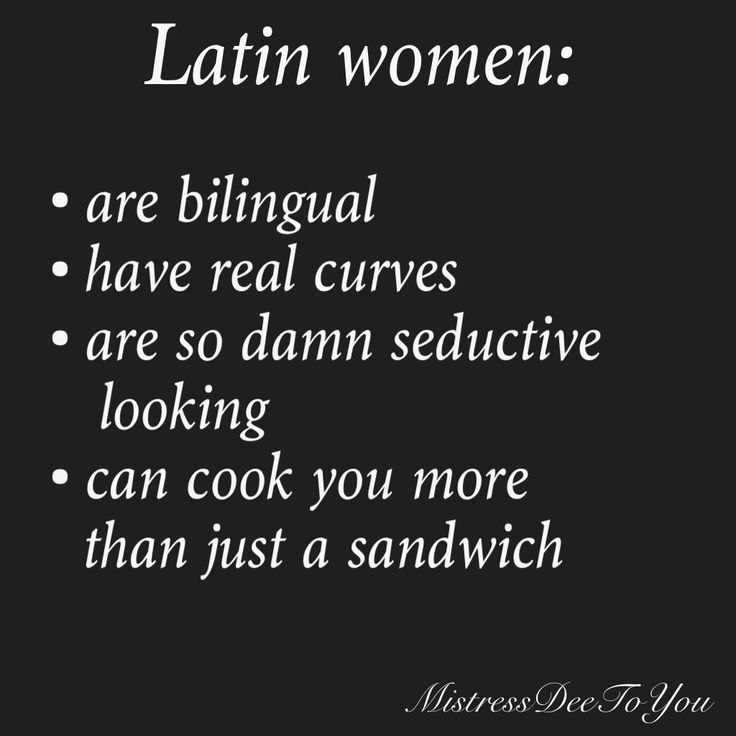Latin women… They'll cook you more than just a sandwich… lol