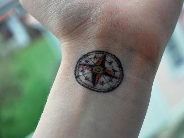 20 Compass Small Wrist Tattoos Guys Ideas And Designs