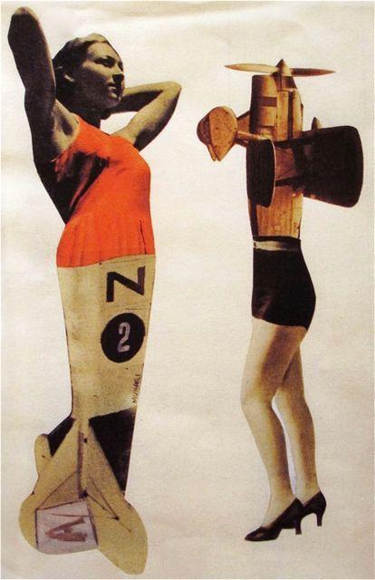 """Bruno Munari """"And thuswe would set about seekingan aeroplane woman""""  1930s"""