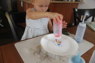 Today we read Jan Brett's The Easter Egg  and then made our very own 'best' Easter eggs. Recently I saw a recipe for homemade puffy paint  a...