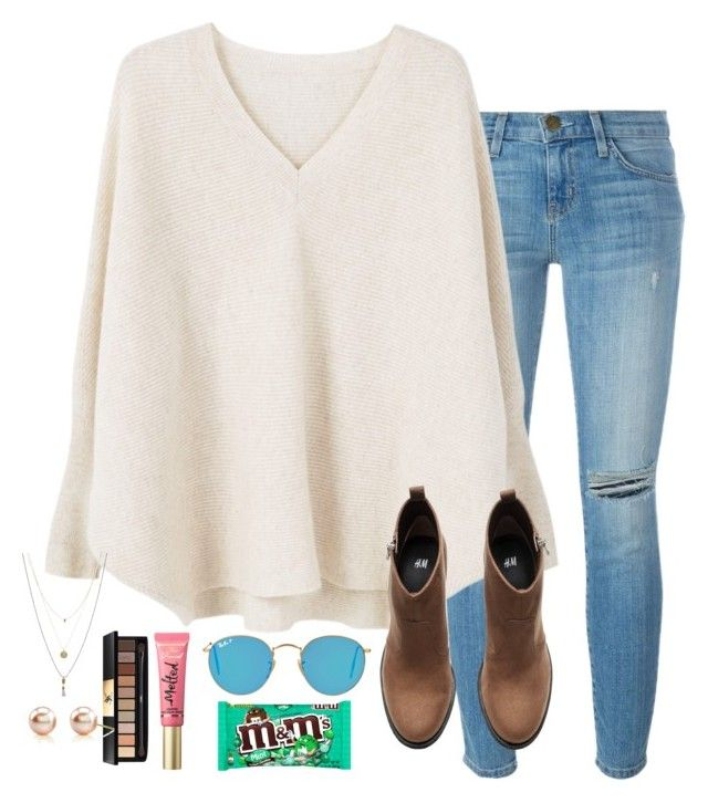 """game today 💪🏻🏀"" by torideckerrr ❤ liked on Polyvore featuring Current/Elliott, MANGO, Ray-Ban, H&M, Too Faced Cosmetics, Yves Saint Laurent and Towne & Reese"