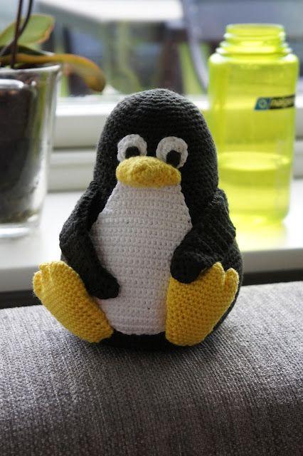 Kvalitetstid: Opskrift på hæklet Linux pingvin - Tux
