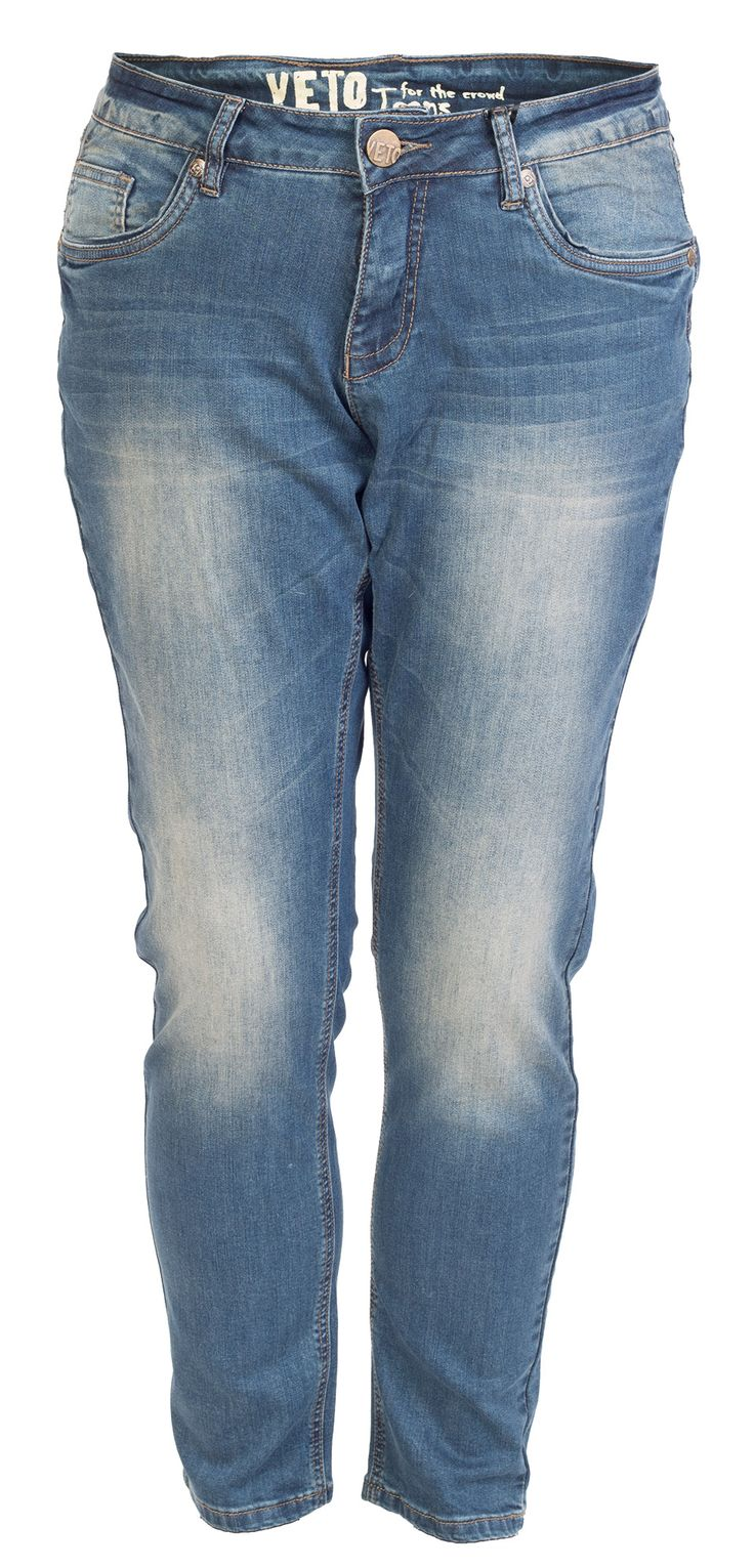 Mega cool Blå jeans med slid effekt Veto Modetøj til Damer til hverdag og fest
