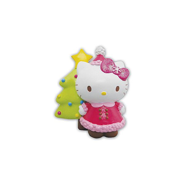 Hello Kitty Christmas Tree Ornament Seasonal (75 MXN) ❤ liked on Polyvore featuring home, home decor, holiday decorations, hello kitty christmas tree ornaments, resin christmas ornaments, hello kitty home decor, hello kitty home accessories and hello kitty christmas ornaments