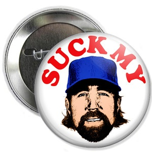 Button machine. R.A. Dickey #dickeythebest