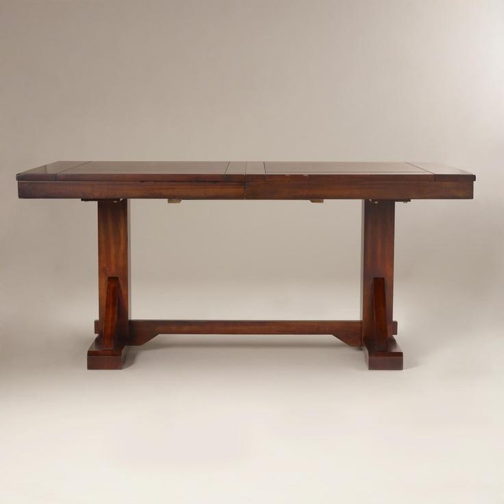 Mahogany Verona Trestle Table Black And World