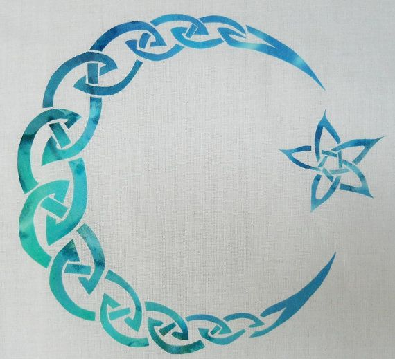 Easy Celtic Moon and Star Knot Quilt Applique by QuiltingSupport, $5.99