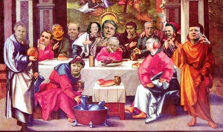 Josefs letztes Abendmahl, Politiker, Merkel etc