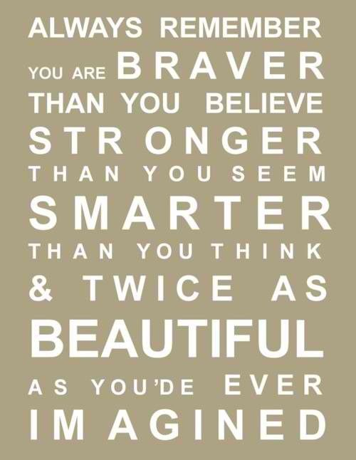 encouragement.: Remember This, Daughters Rooms, Inspiration, So True, Winnie The Pooh, Kids, Favorite Quotes, Christopher Robin, Girls Rooms