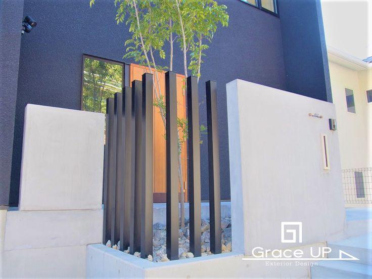 【GraceUP/ Works/ 施工事例no.082】シンプルモダンスタイルの外空間デザイン。 関西一円 大阪の外構デザイン設計のグレイスアップ。