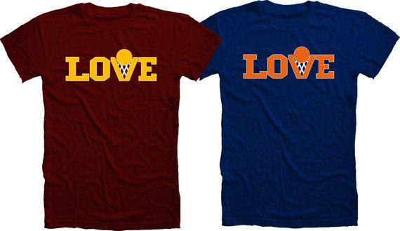 Kevin+Love+'LOVE'+TShirt+Cleveland+by+ScreenprintersWorld+on+Etsy