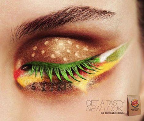 Burger King eye makeup!