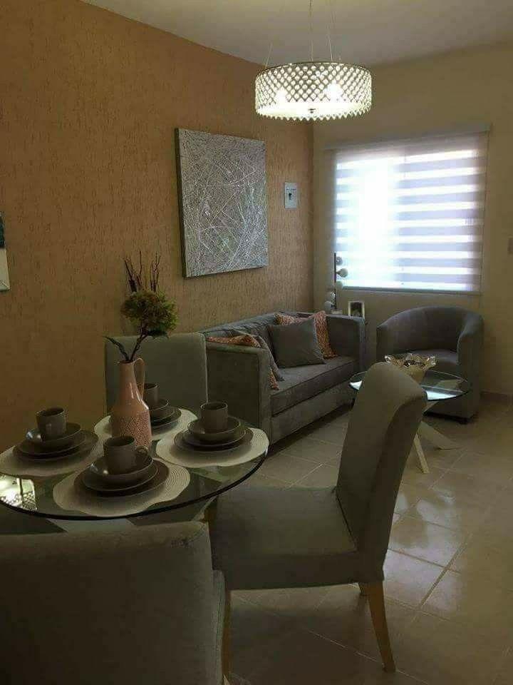 Sala Comedor Para Espacios Reducidos Decoracion De Interiores Salas Interiores De Casas Pequenas Como Decorar Casas Pequenas