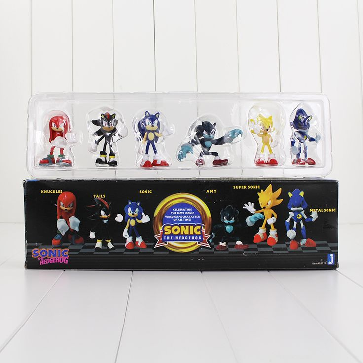 6pcs/lot 5-7cm Sonic The Hegehog Figure Toy Super Sonic Shadow Tails Knuckles Mini Model Doll for Children #Affiliate