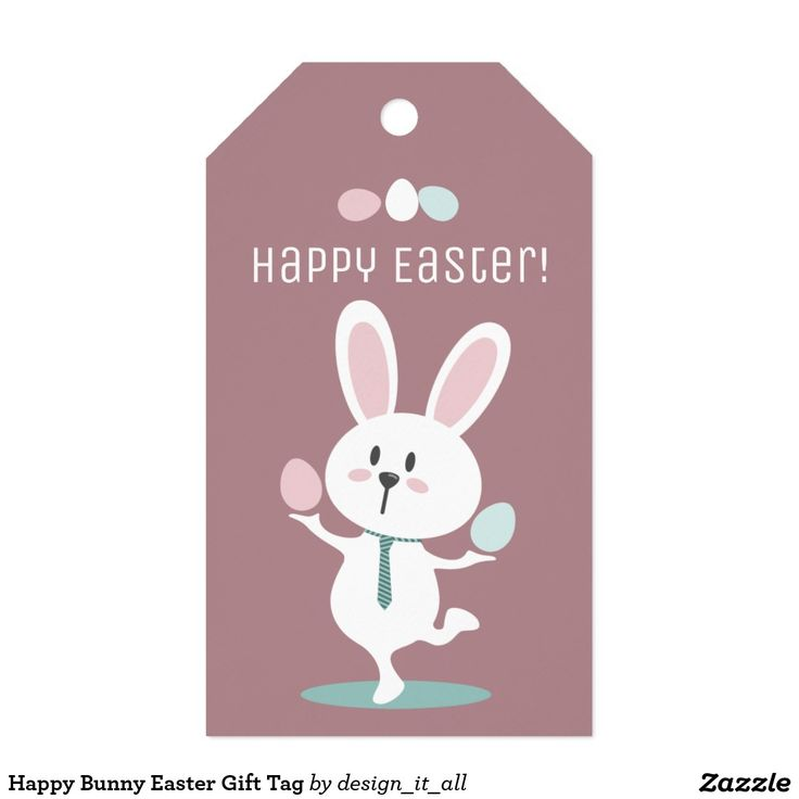 7 best happy easter images on pinterest happy easter happy easter happy bunny easter gift tag negle Gallery