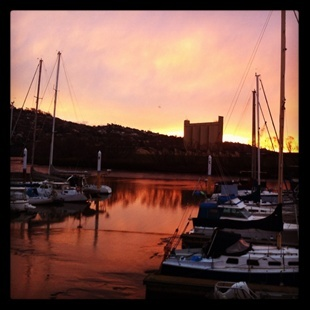 Sunset on the Tamar River. Tasmania sure has the goods. Shot by Emily-Rose Wills.| Rain, Hail or Shine
