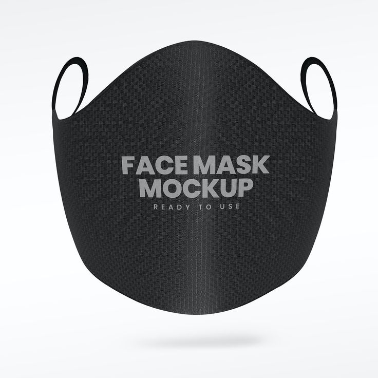 Download Premium Illustration Of Black Face Mask Mockup On A Gray Mask Face Mask Black Face Mask
