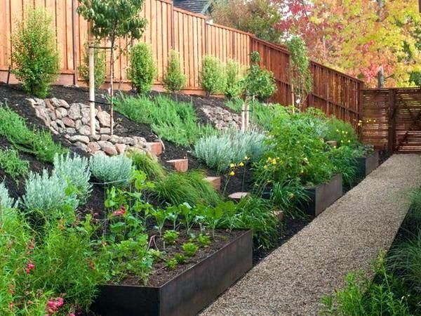 How To Landscape A Backyard Slope Landscape Design Ideas For