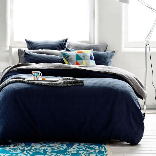 Home Republic Brooklyn Waffle Bedroom Quilt Covers