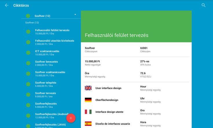 Tablet Számla Cikktörzs kezelés  https://play.google.com/store/apps/details?id=com.tabletinvoice.app