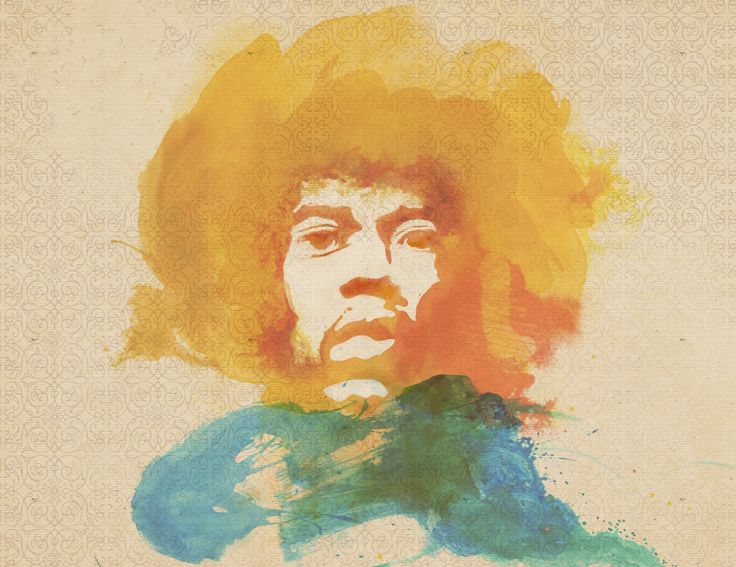 Hendrix illustration watercolour
