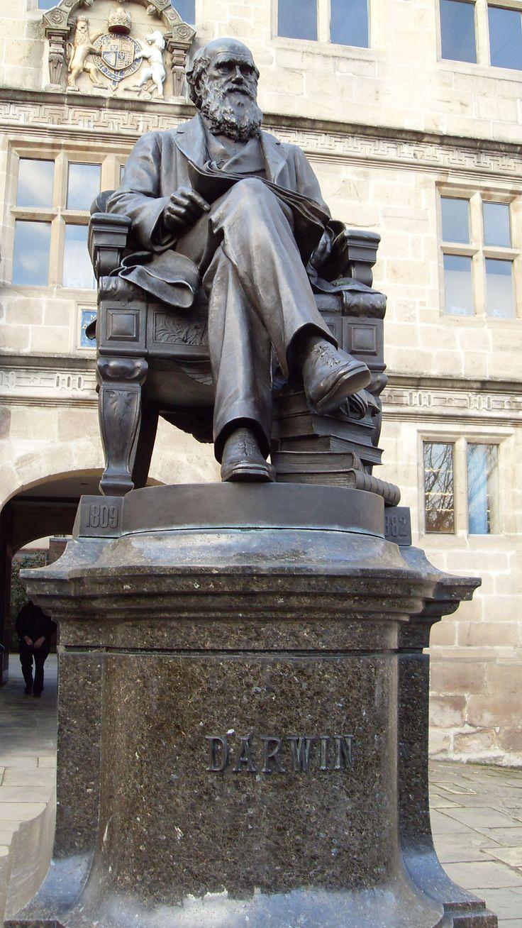Darwin statue, Shrewsbury