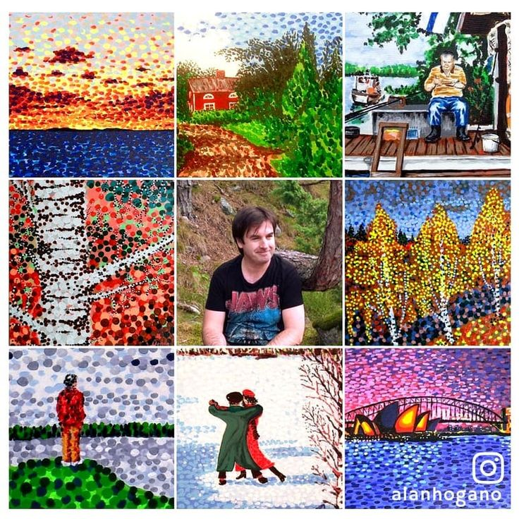 ...throwing my netgrid of art out for the trending #artvsartist promo, maybe it'll catch a few likes! 😄 . . #art #artistsofinstagram #handpainted #hoganartgarage #artoftheday #spring #blossom @topliketags #flowers #beautiful #finland #seasons #instaspring #instagood #springtime #color #warm #sunny #tree #artgallery #instatrend #topliketagsspring #springbreak #trees #colorful #spring2018 #topliketags #april #artistpromo #sydney