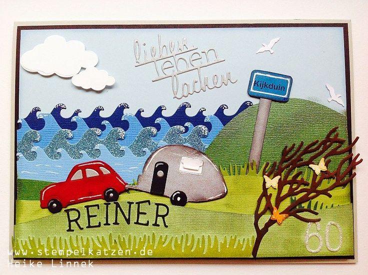 Geburtstagskarte für einen Holland Camping Fan mit #kulricke dies #holland #karte #impressionobsession