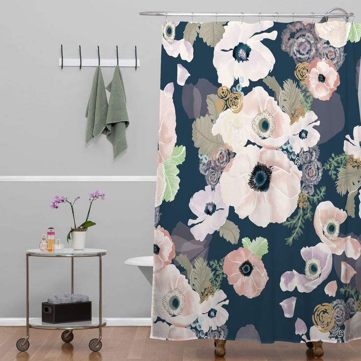 Khristian A Howell Une Femme In Blue Shower Curtain | DENY Designs Home Accessories