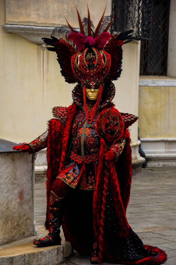 Elaborate costume of a Carnival of Venice king ...