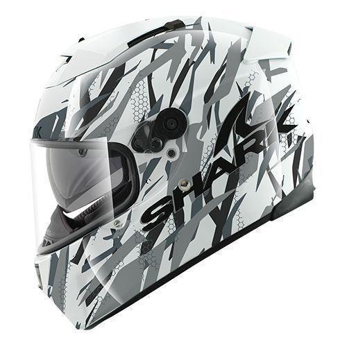 Casco integrale per moto Shark Pulse Division Speed-R Series 2 Fight A - Doppio spoiler con estrattori d'aria per ottimizzare l'aerodinamica e la ventilazione del casco Visiera con Pinlock MaxVision di serie Sistema ergonomico per la movimentazione della visiera e del visierino parasole Interni trattati con carboni attivi di bamboo per un triplo effetto: antibatterico, antisudore e ipoallergenico Visiera principale con nuova cremagliera per renderne più facile l'utilizzo