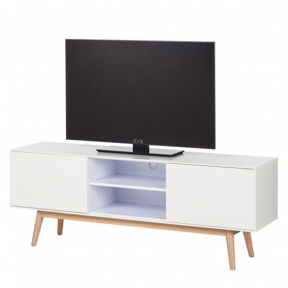 Tv-meubel Lapine - deels massief eikenhout | home24.nl