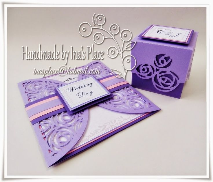 Ina's Place Invitations & Party Supplies: Tonos Lila/Lavanda & Violeta - Invitación para Boda.#c7527987656569552630