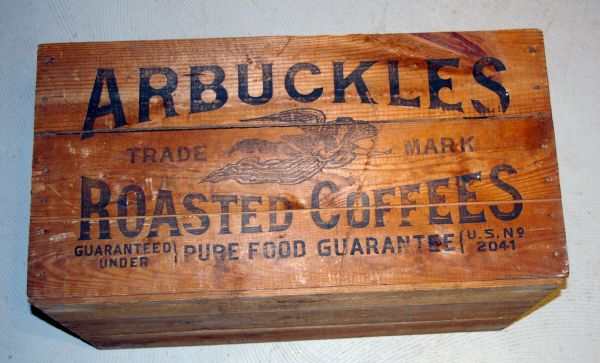 Arbuckles Coffee Box Old West Shipping Crate