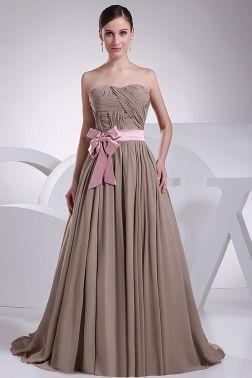 nature color bridesmaid dress