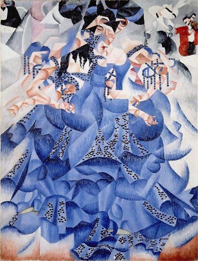 Gino Severini (1883-1966), 1912, Ballerina blu (Blue Ballerina), Oil on canvas…