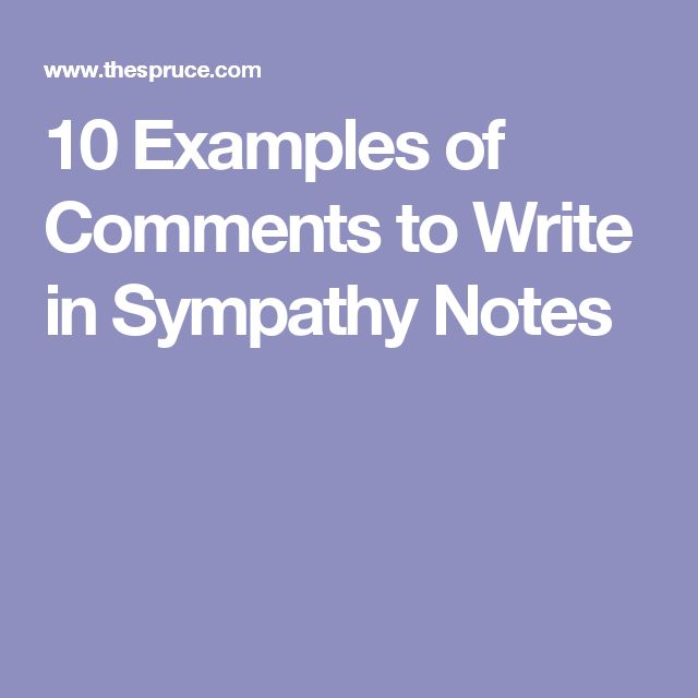 10 Examples of Comments to Write in Sympathy Notes