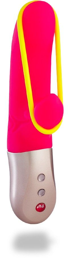 Fun Factory Amorino USB Rechargeable Rabbit Vibrator Reference:  FUN1641836 Condition:  New product  The MiniVIBRATOR with a taut band. Thrilling and new.  The neon yellow band on this rechargeable MiniVIBRATOR exudes its heavenly magic across the gently rounded ends of theAMORINO and its bulbous clit stimulator.