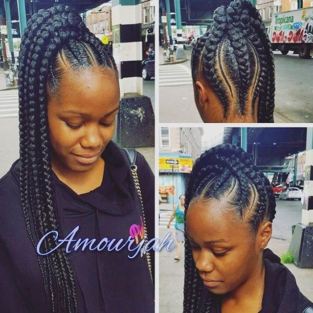 Love This Braided Ponytail П�� So Neat And Different П��🏾