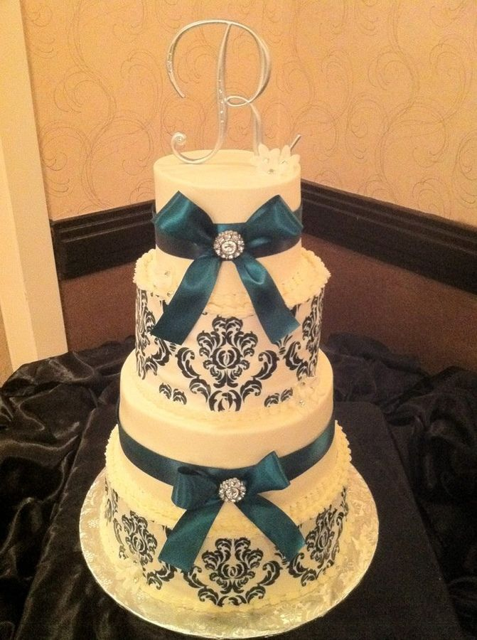 Cake Decorating Edible Ribbon : damask cake ribbon damask print wedding cake damask ...