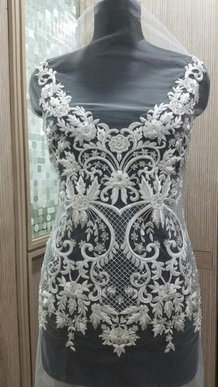 Hand Beaded Wedding Dress Bodice
