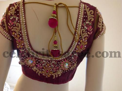 Latest spring work blouse designs bridal embroidery