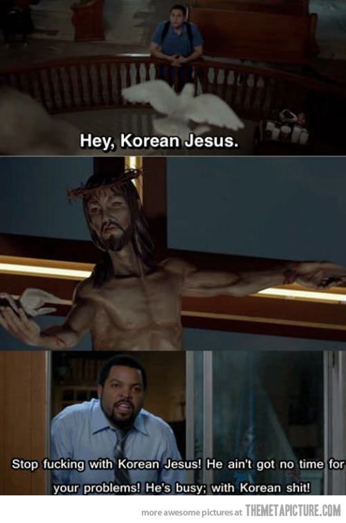 Korean Jesus… ya got to love 21 jump street.
