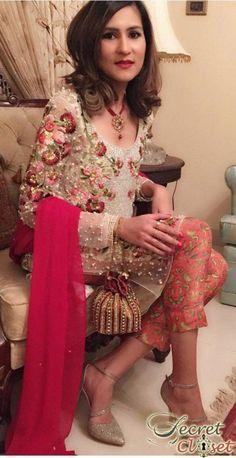 Pink Pakistani Fancy Dresses For Girls