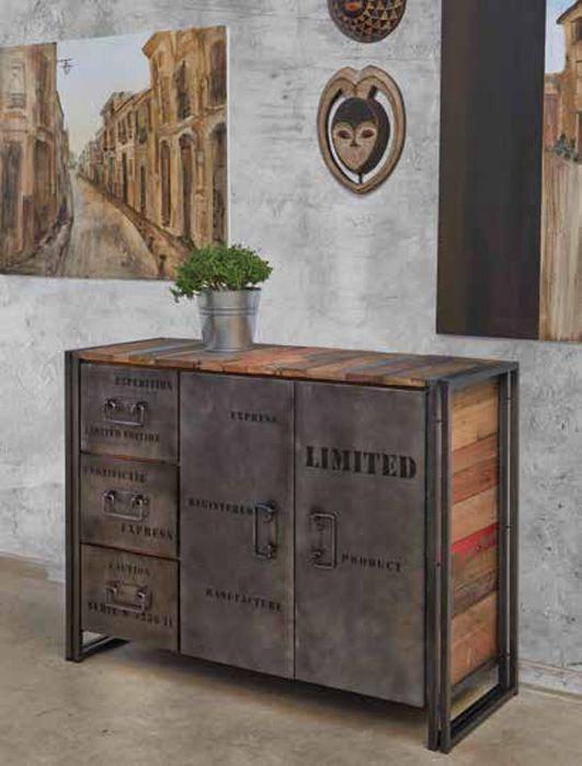 Mueble Aparador cerrado de estilo Industrial EDITO. Diseño y calidad online.