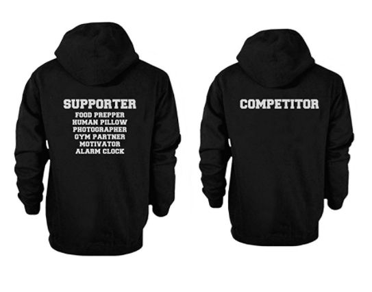Supporter and Competitor Cute, Funny Couple Hoodies ——————-  Couple shirt, couple hoodie, couple wear, couple goals, gift ideas, anniversa…